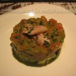 Charlottes tartar tomatoes, avacado, tuna