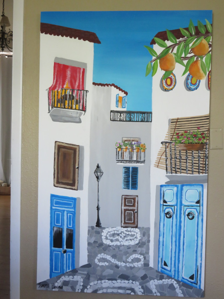 spain village painting