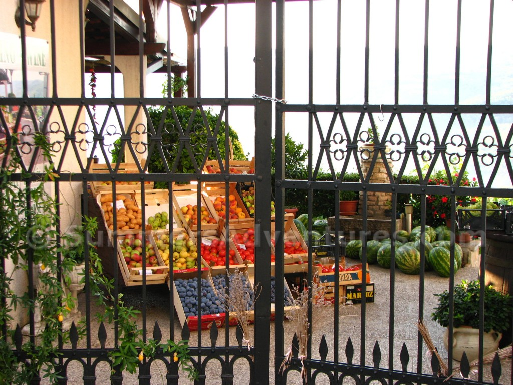 Fruit stand in Motovun