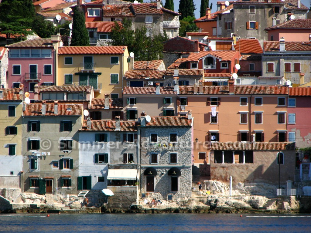 Houses on the adriatic