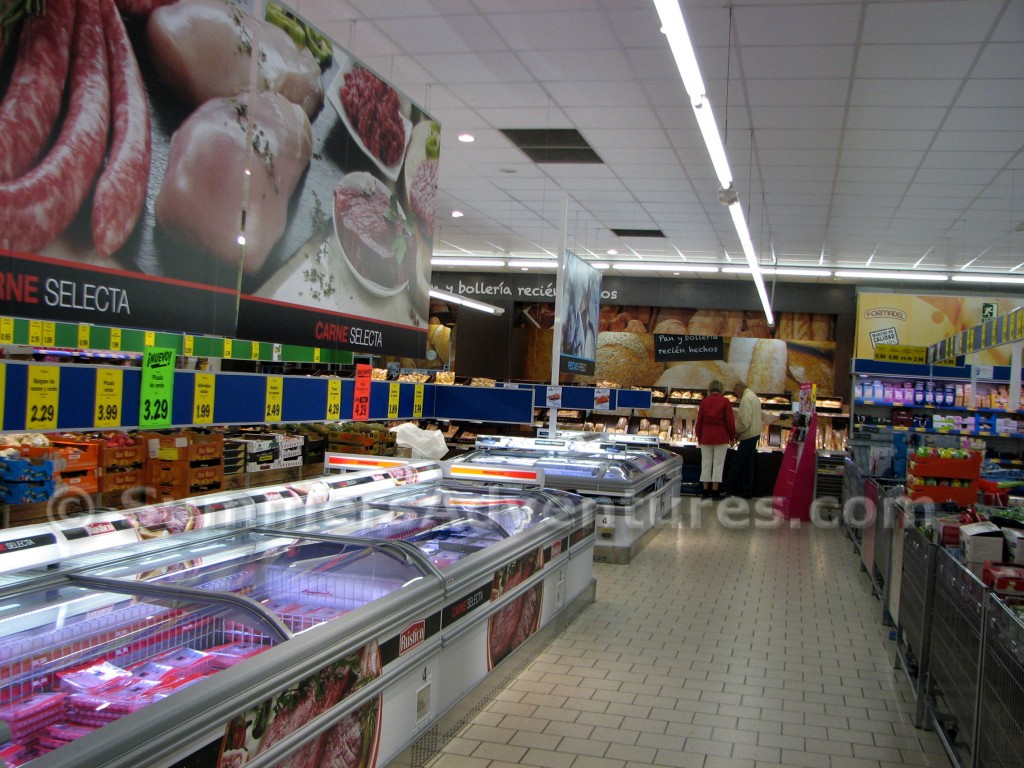 aisle in Lidl