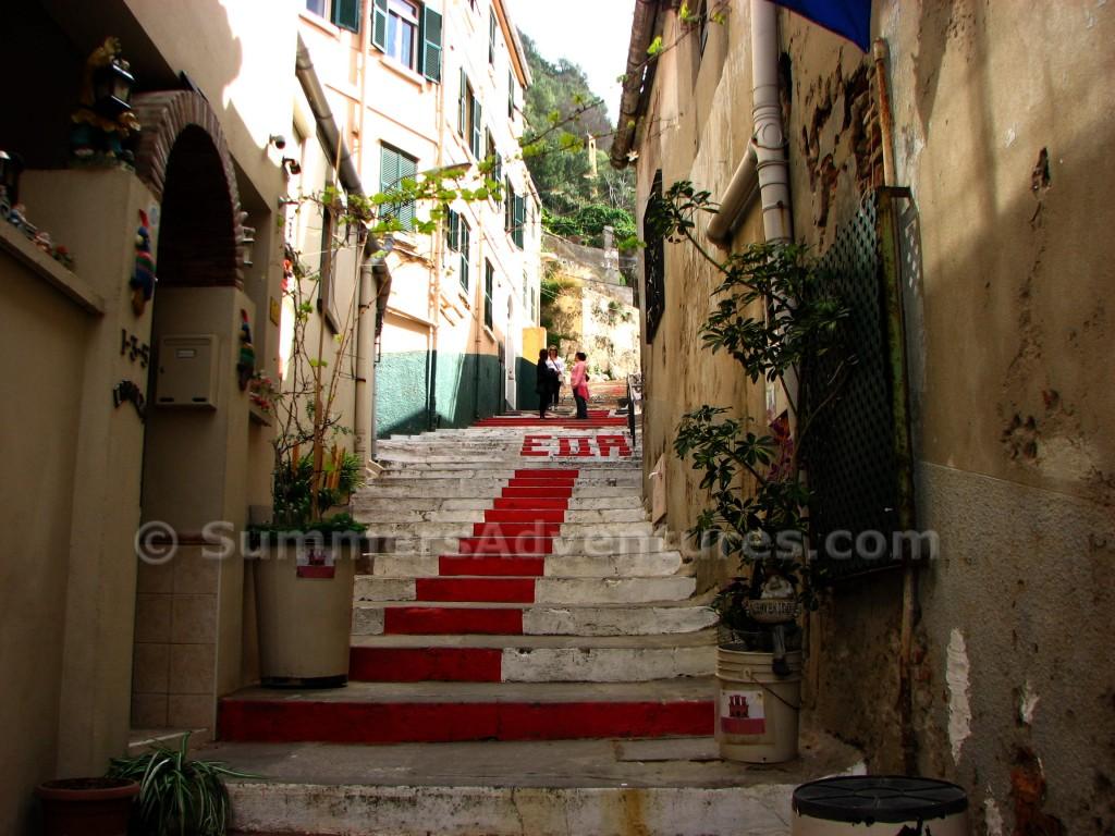 Gibraltar british stairs