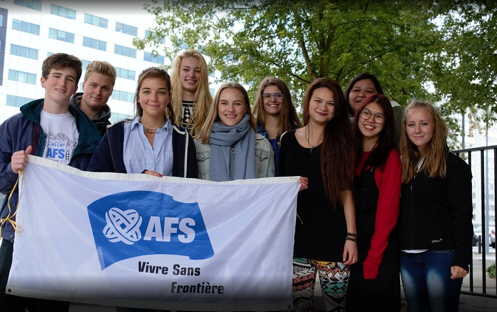 AFS exchange students