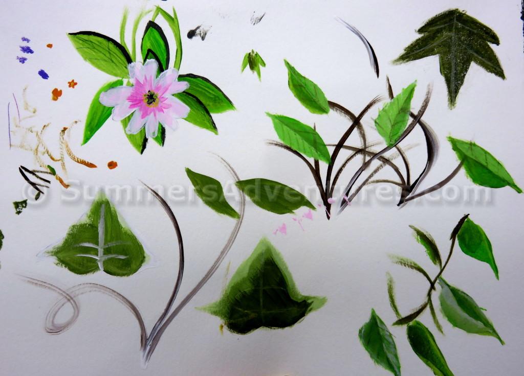 acrylic leaves